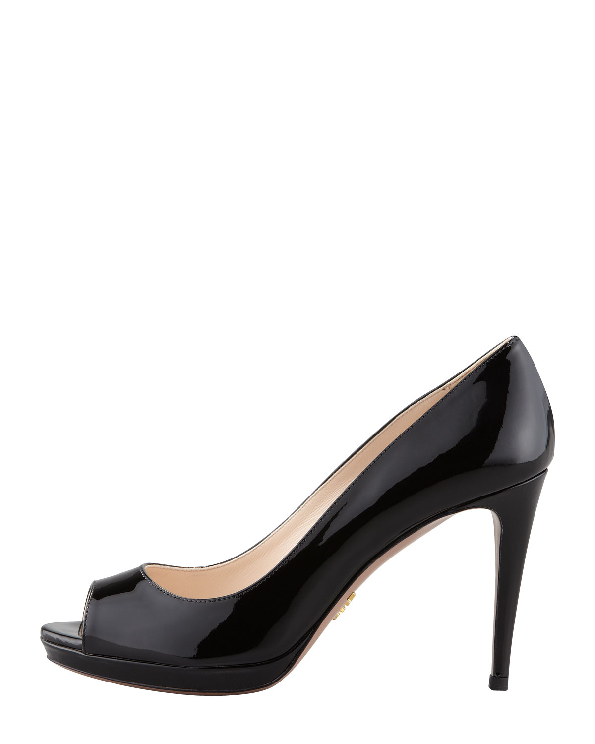 wiki free shipping factory outlet Prada Patent Peep-Toe Pumps free shipping many kinds of JS16GPs