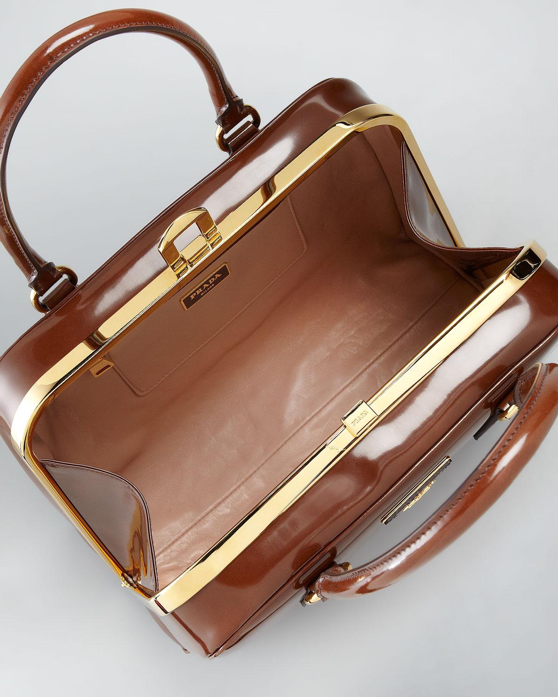 prada yellow tote - Prada Spazzolato Pyramid Bag in Brown (tobacco fume)   Lyst