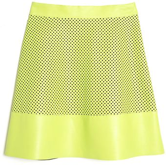 Proenza Schouler Perforated Leather Skirt - Lyst