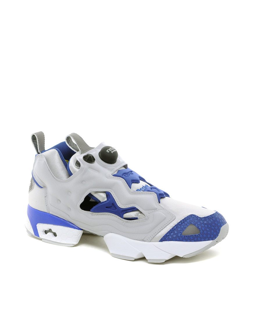 reebok pump fury trainers in white grey lyst. Black Bedroom Furniture Sets. Home Design Ideas