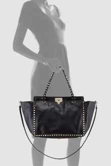 Valentino Medium Rockstud Tote Bag Ner - Lyst