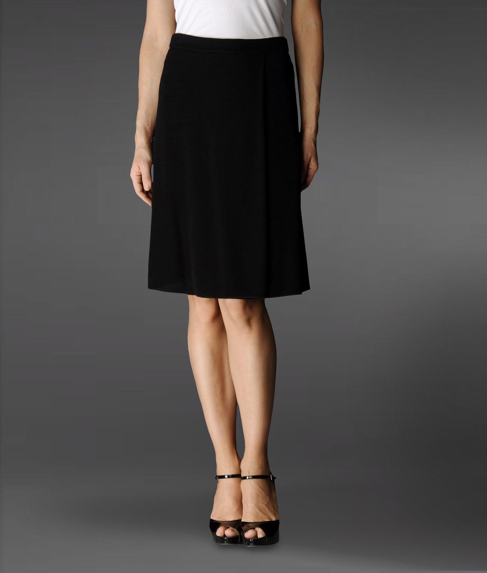 Armani Knee Length Skirt in Black | Lyst