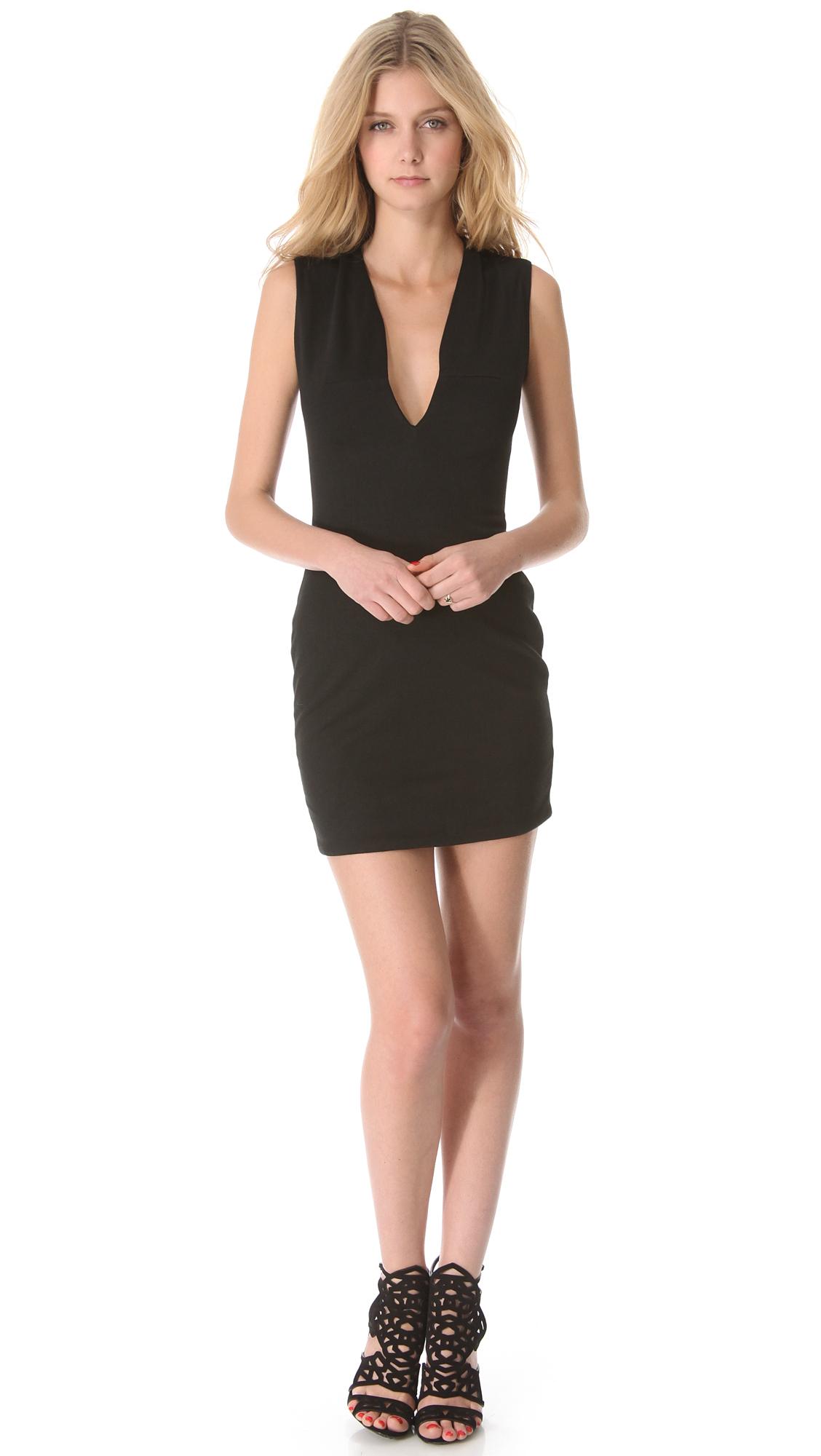Blaque Label Low Cut Sleeveless Dress In Black Lyst