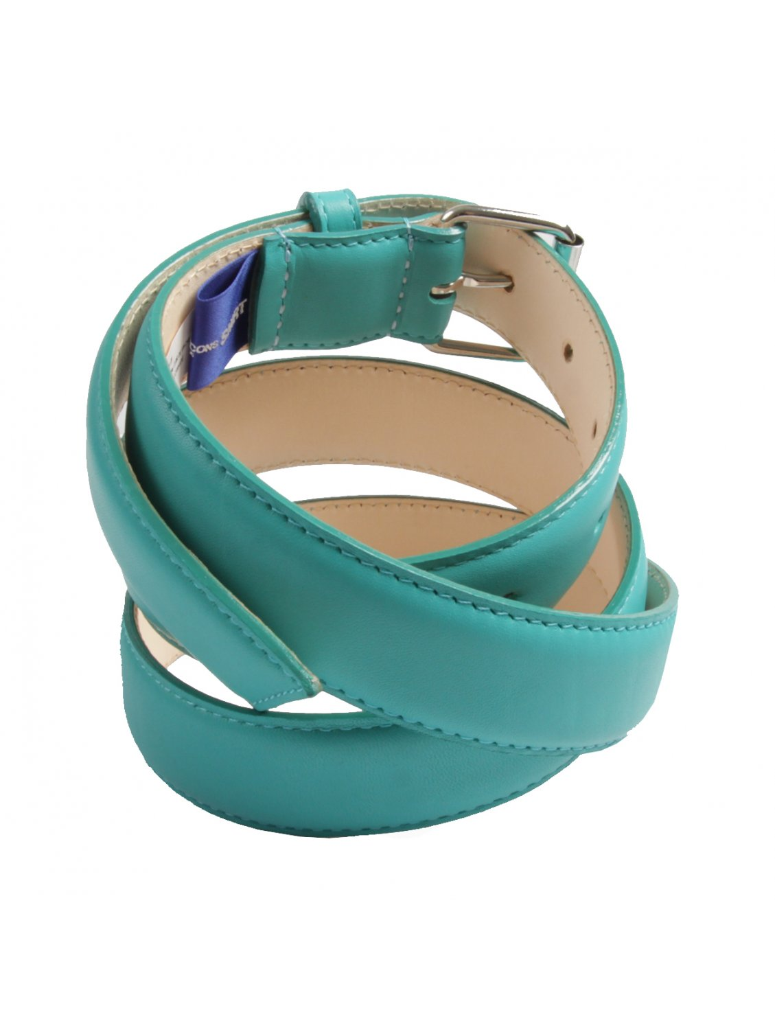 comme des gar 231 ons classic leather belt turquoise blue in
