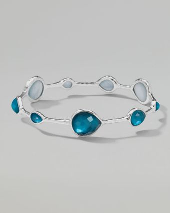 Ippolita Wonderland Silver Teardrop Bangle - Lyst