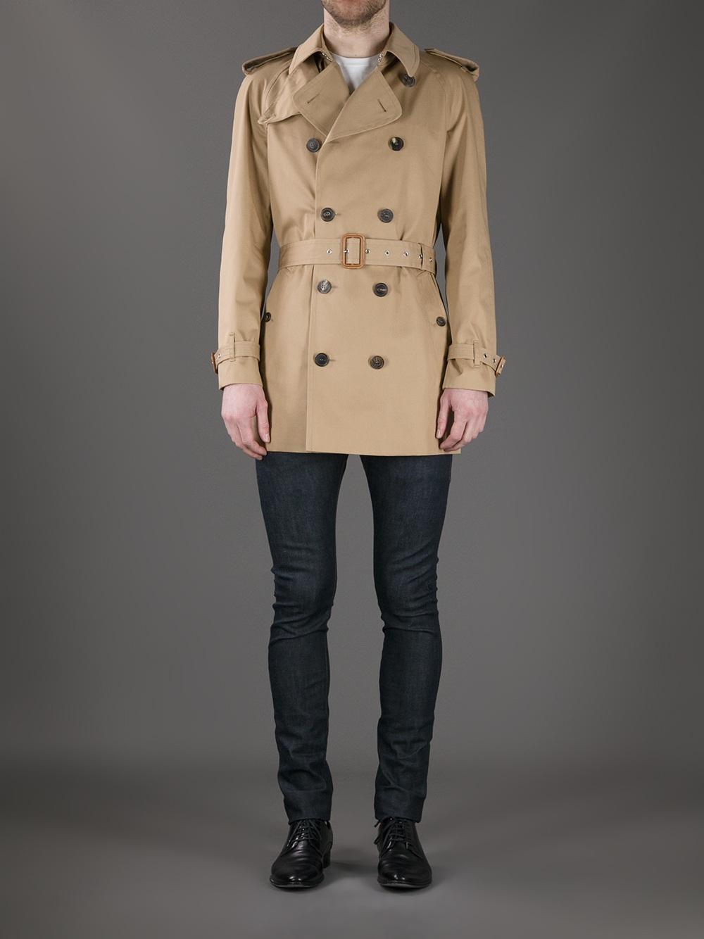 76e26314ac Saint Laurent Brown Short Trench Coat for men