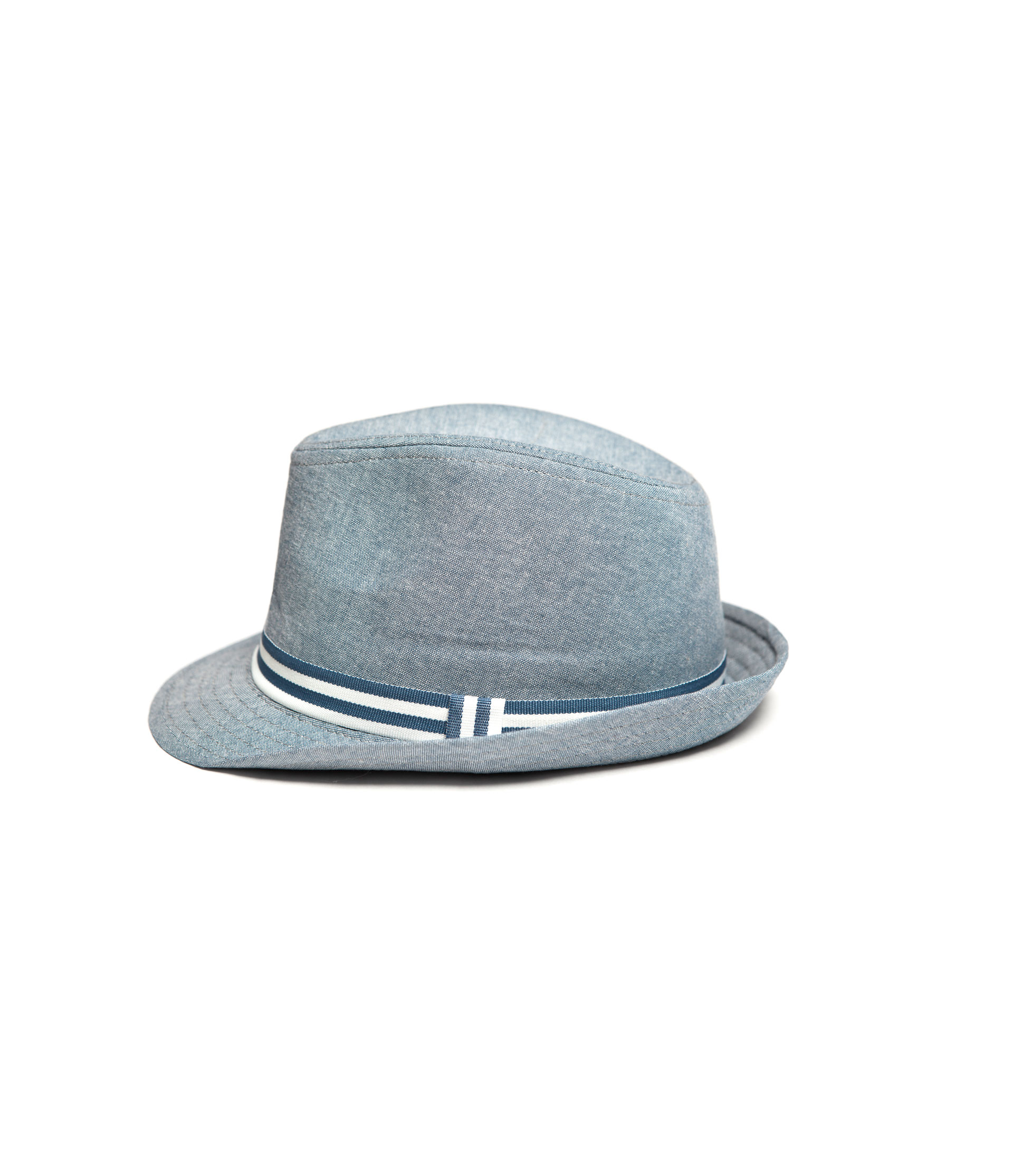 zara hat with two tone ribbon in gray blue lyst