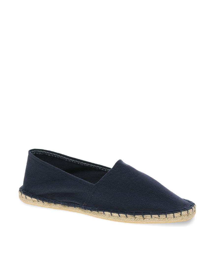 Asos Espadrilles In Navy Canvas Blue For Men Navy Lyst