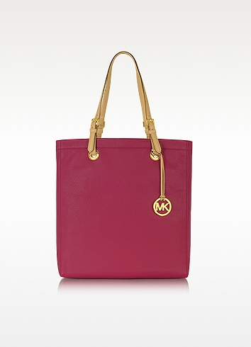 fcdc02b79209 Michael Kors Jet Set Item Leather Northsouth Tote in Natural - Lyst