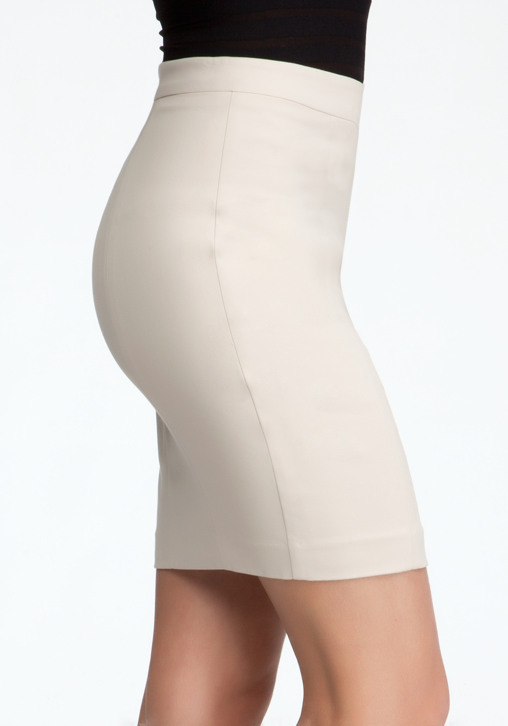 lyst bebe mini pencil skirt in white
