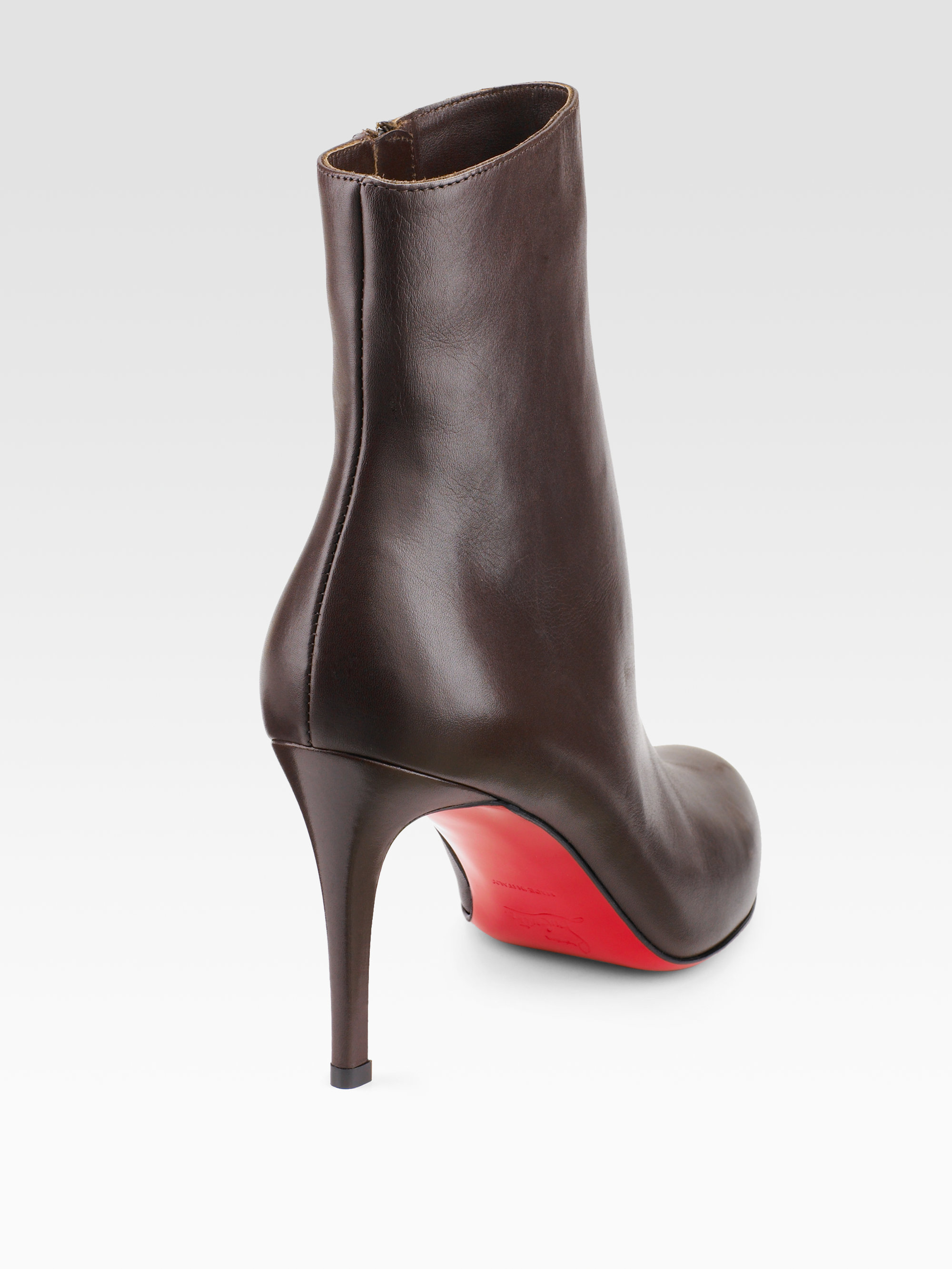 christian louboutin mens sneakers for sale - christian louboutin round-toe ankle boots Brown leather   The ...