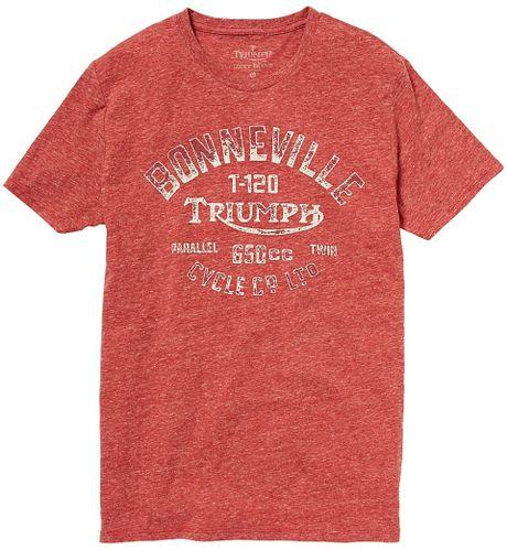 Lucky brand triumph bonneville 650 tshirt in red for men for Lucky brand triumph shirt