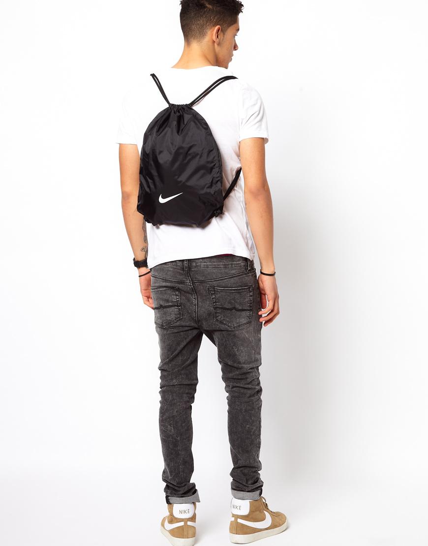 Nike Drawstring Backpack Ba2735-001 in Black for Men | Lyst