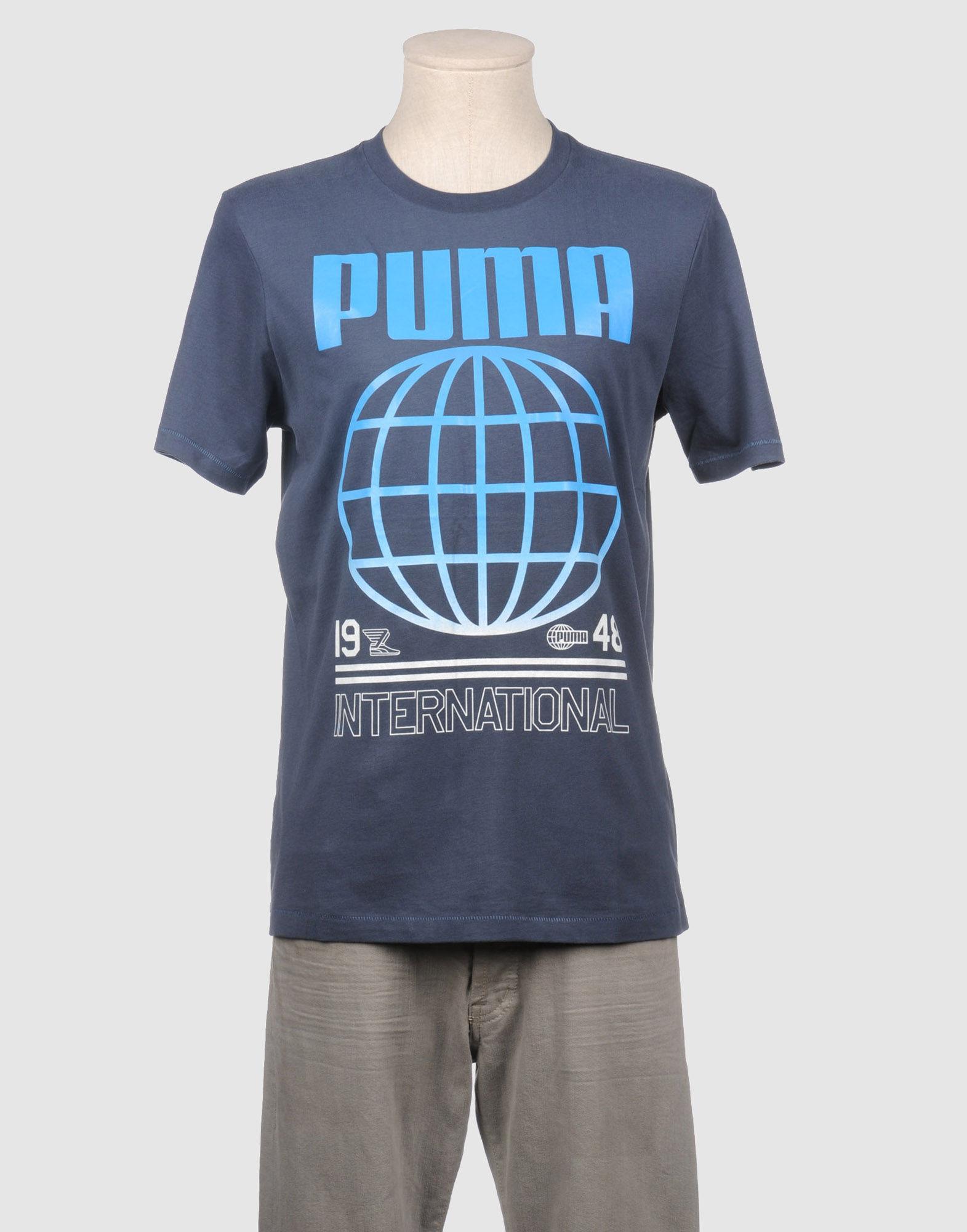 Puma Short Sleeve T-shirt in Blue for Men