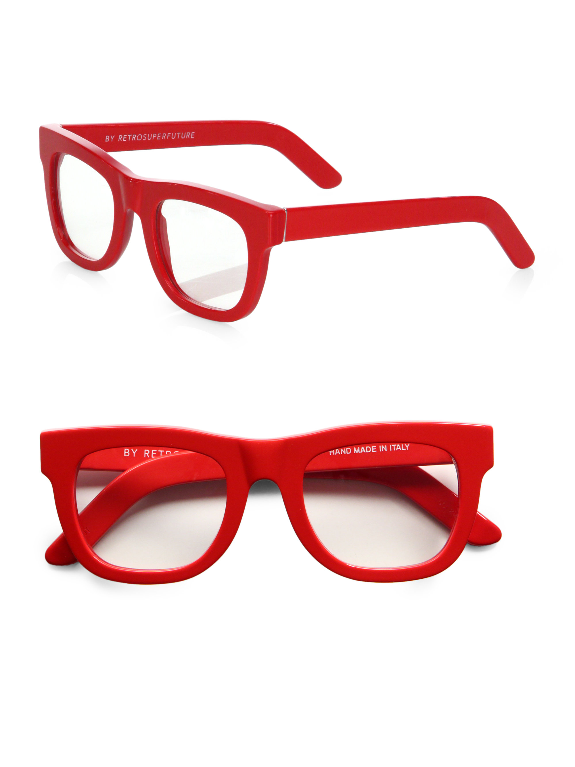 Lyst - Retrosuperfuture Red Optical Frames in Red for Men