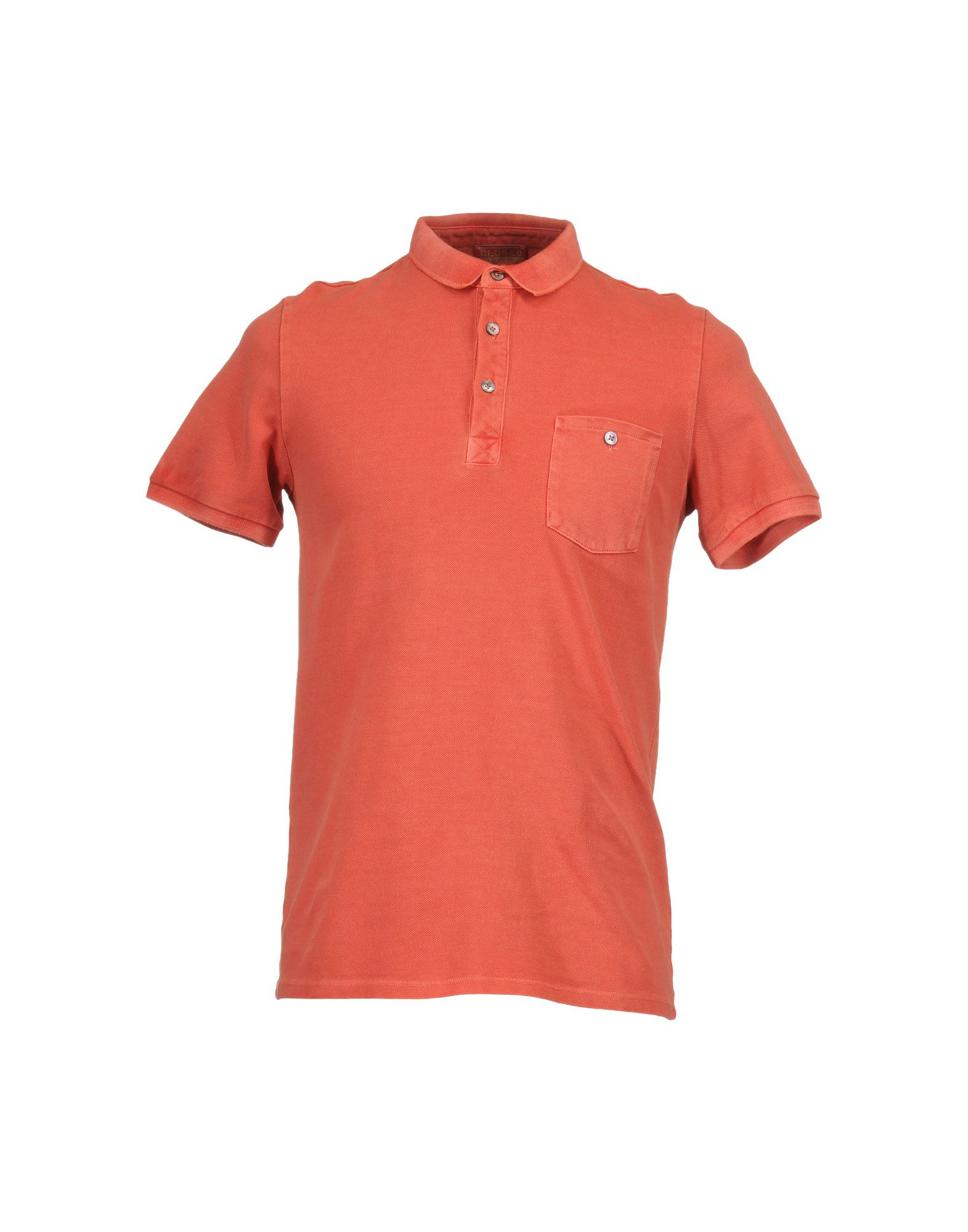 Closed Polo Shirts In Orange For Men Salmon Pink Lyst