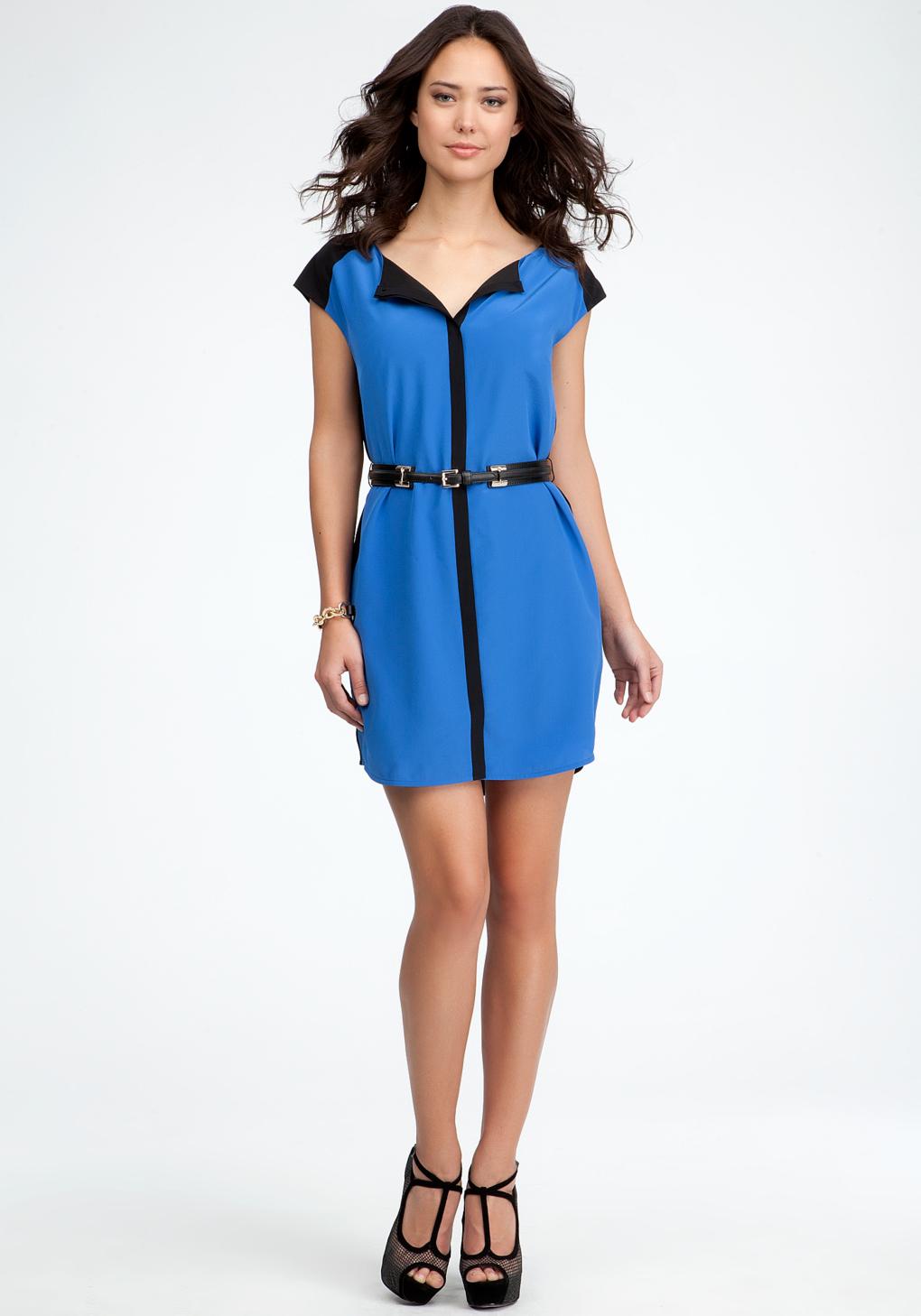 Color block dresses shirts