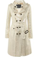 Burberry Prorsum Metallic Jacquard Trench Coat