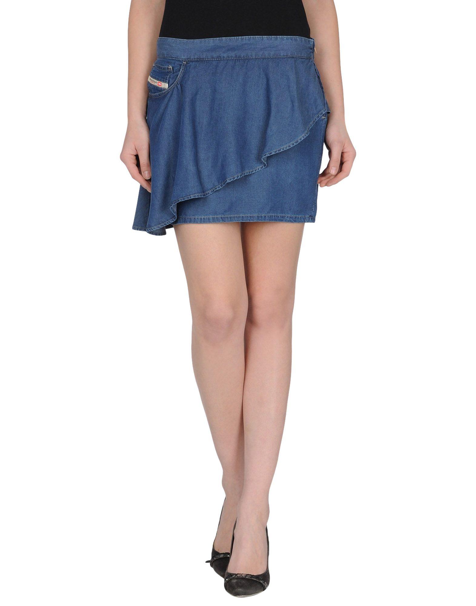 diesel denim skirts in blue save 61 lyst