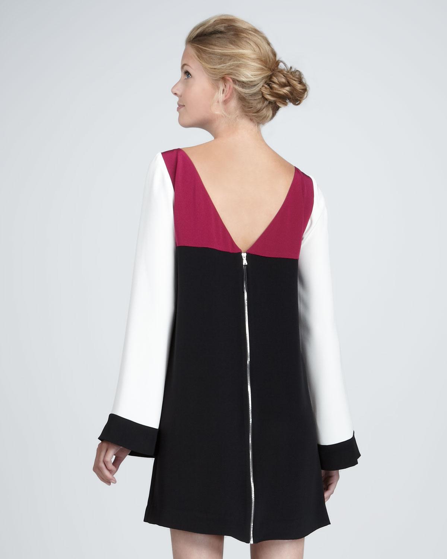 Elizabeth and james black bell sleeve dress