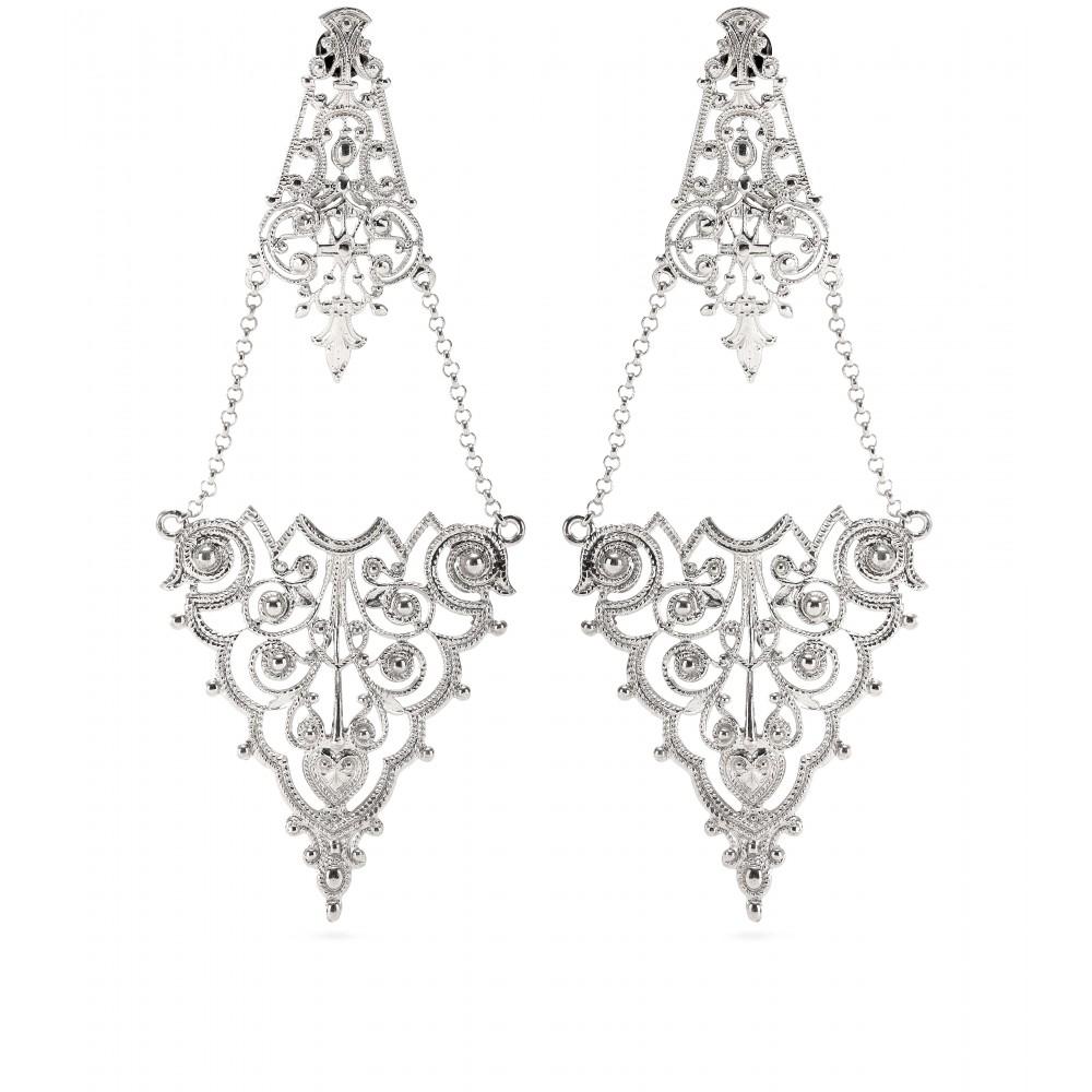 Lyst iam by ileana makri chantilly lace chandelier earrings in gallery aloadofball Choice Image