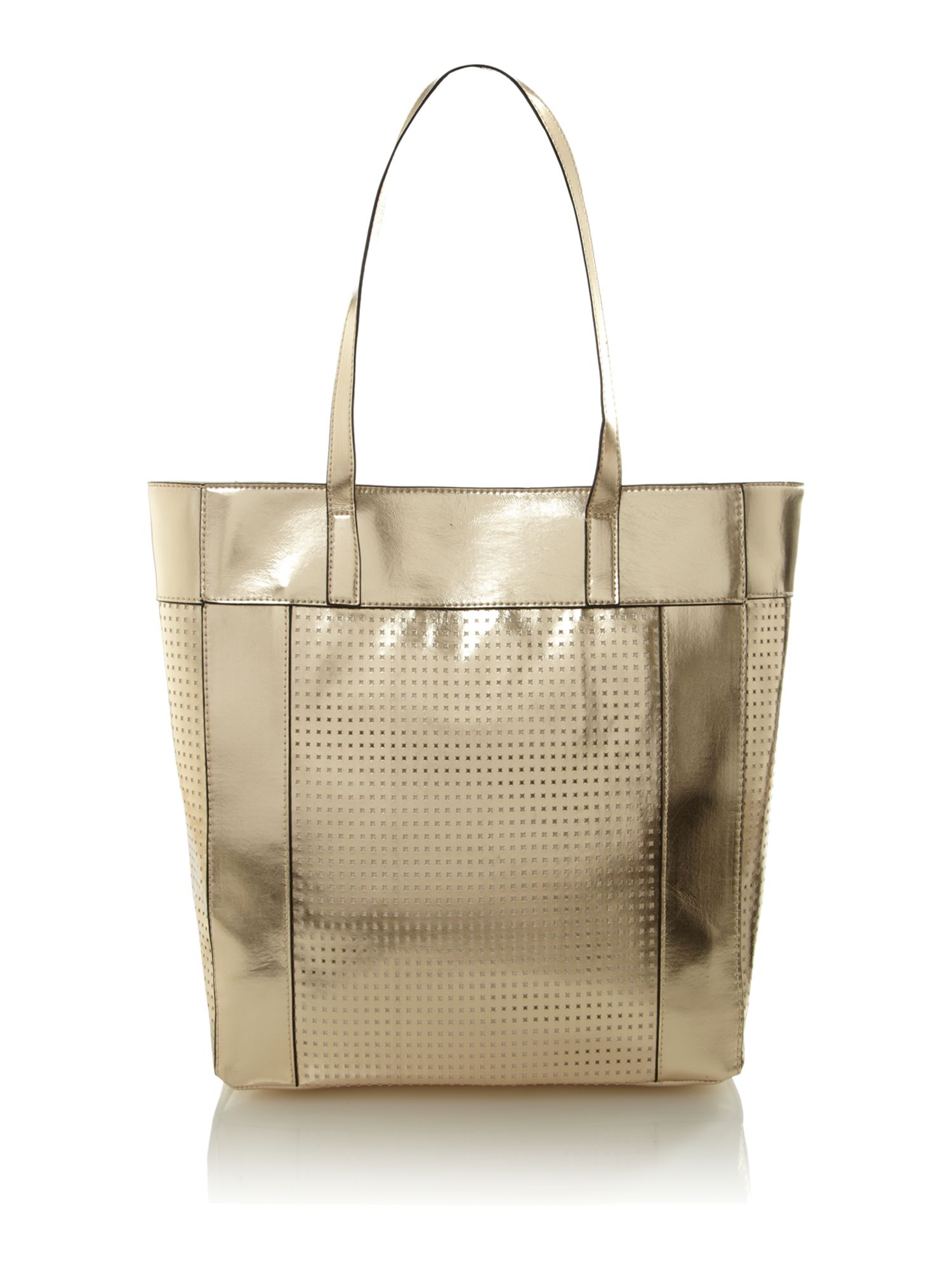 Kenneth Cole Reaction Murray Street Large Tote Bag in Metallic