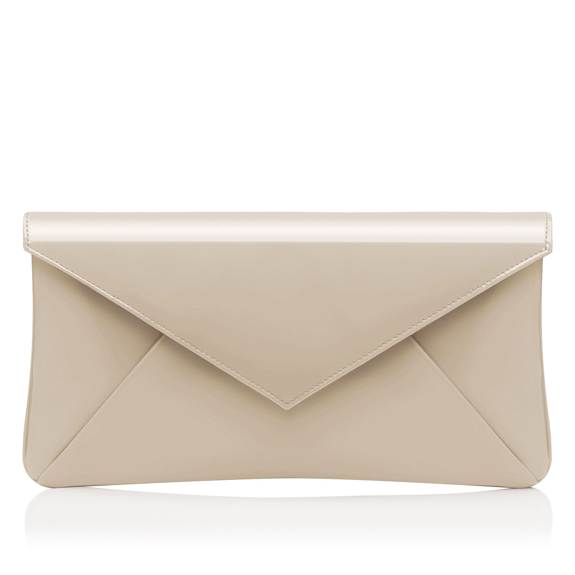 ... bennett Leola Patent Leather Clutch Bag in Beige (off white)   Lyst