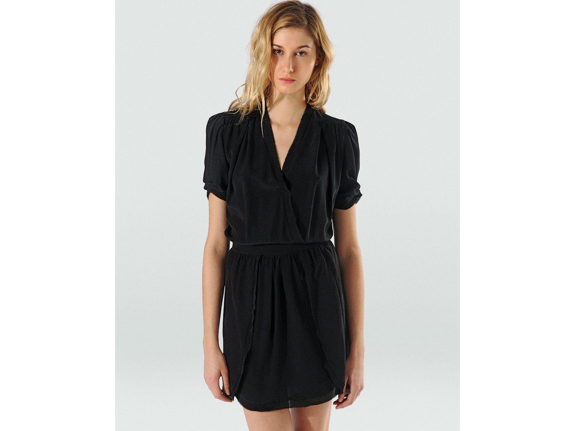Maje Dress Abolir With Wrap Skirt In Black Lyst