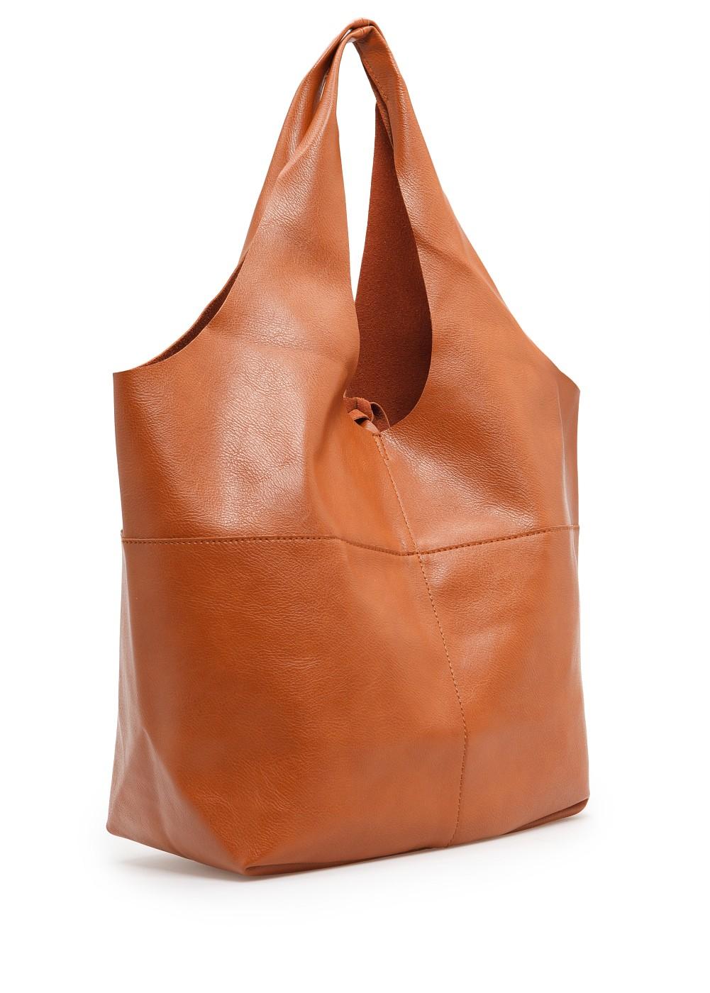 Mango Hobo Bag in Brown | Lyst