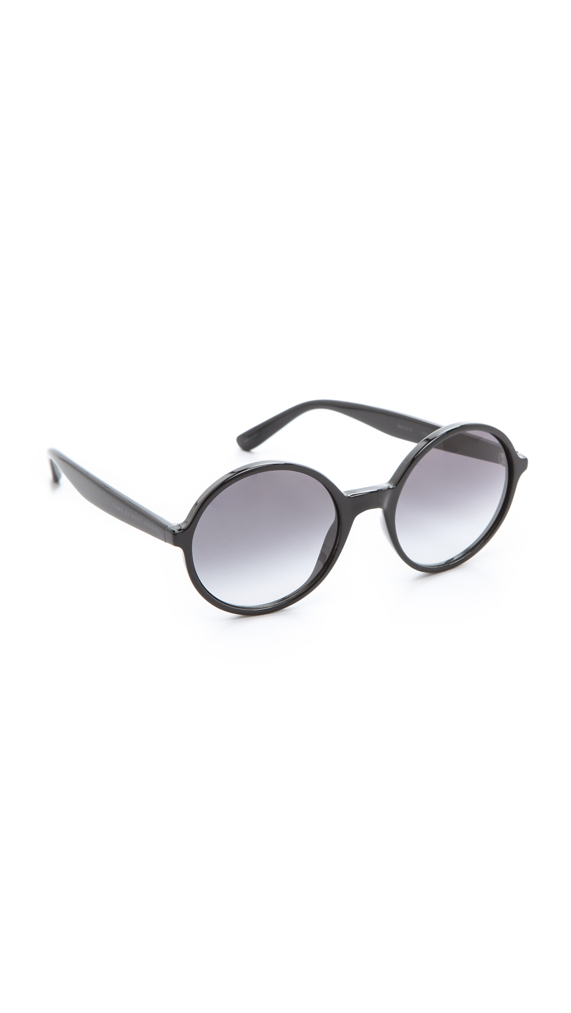Marc By Marc Jacobs Round Frame Glasses : Marc by marc jacobs Oversized Round Sunglasses - Brown ...