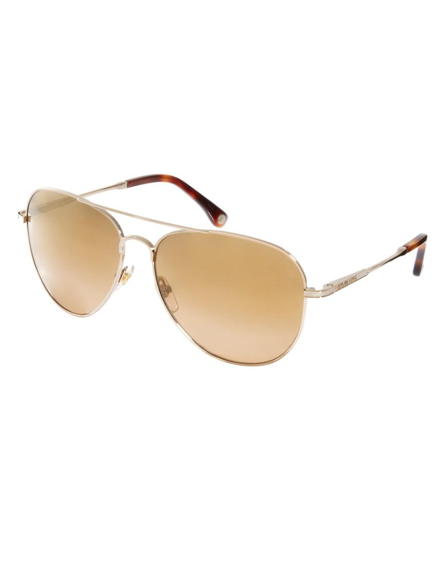 898db0b8fd05 Michael Kors Classic Aviator Sunglasses in Metallic - Lyst