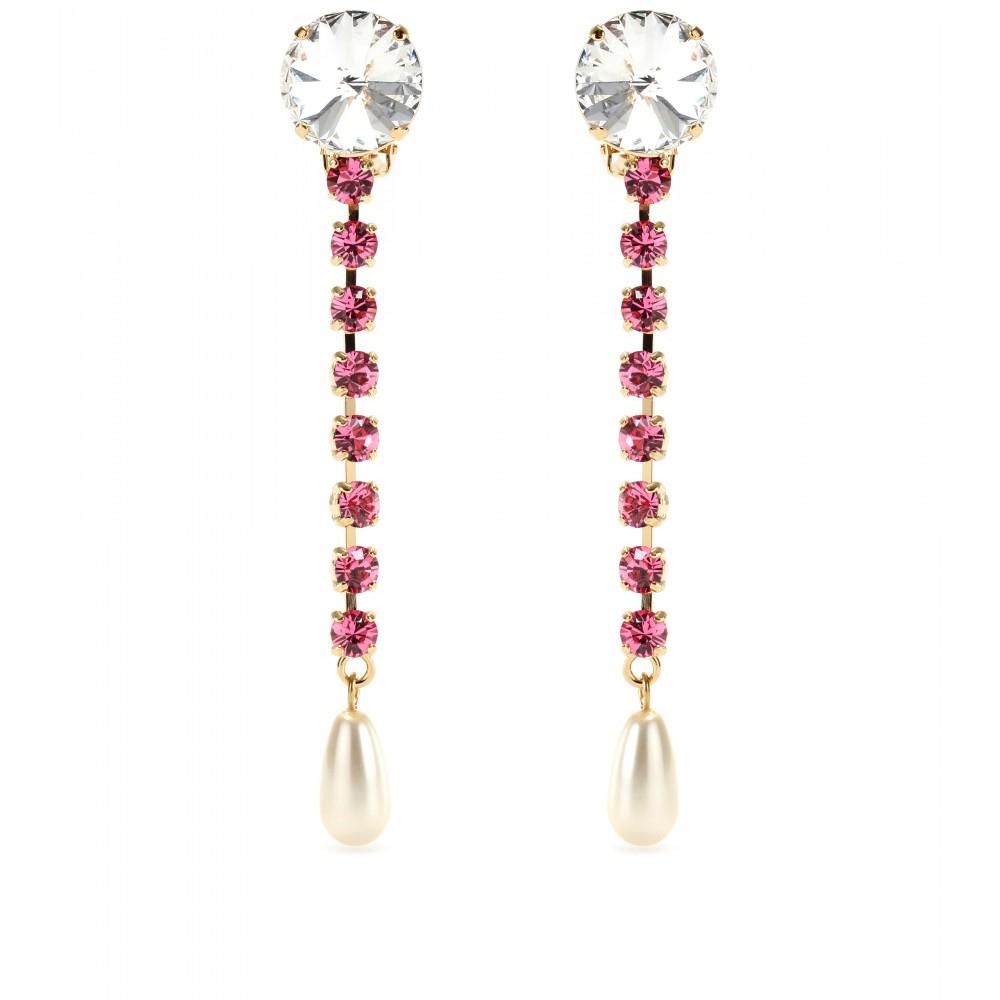 Cristal Et Boucles D'oreilles Perle Embelli Miu Miu dSqabb