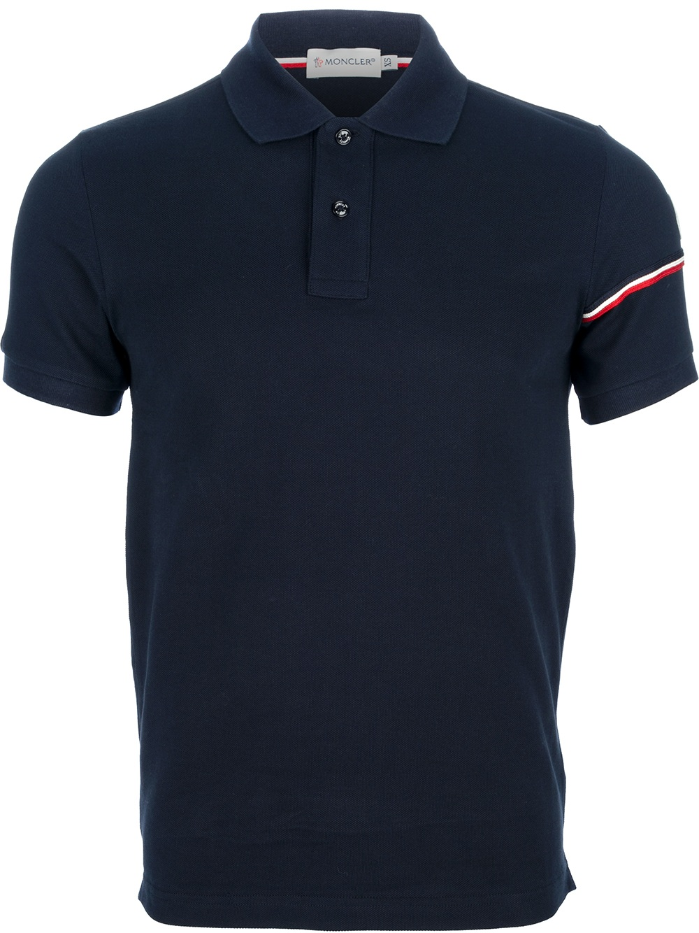 moncler classic polo shirt in blue for men navy lyst. Black Bedroom Furniture Sets. Home Design Ideas