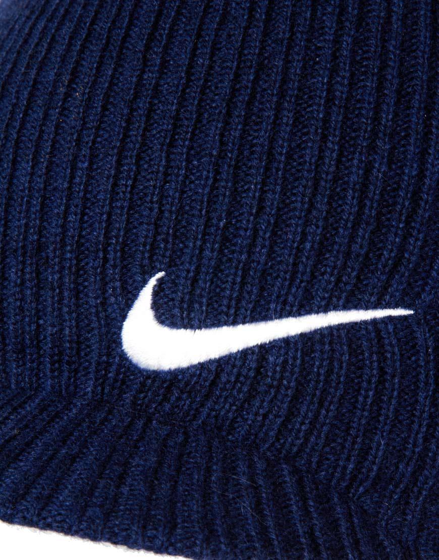 Lyst - Nike Regional Swoosh Peaked Beanie Hat in Blue for Men 5427390676c