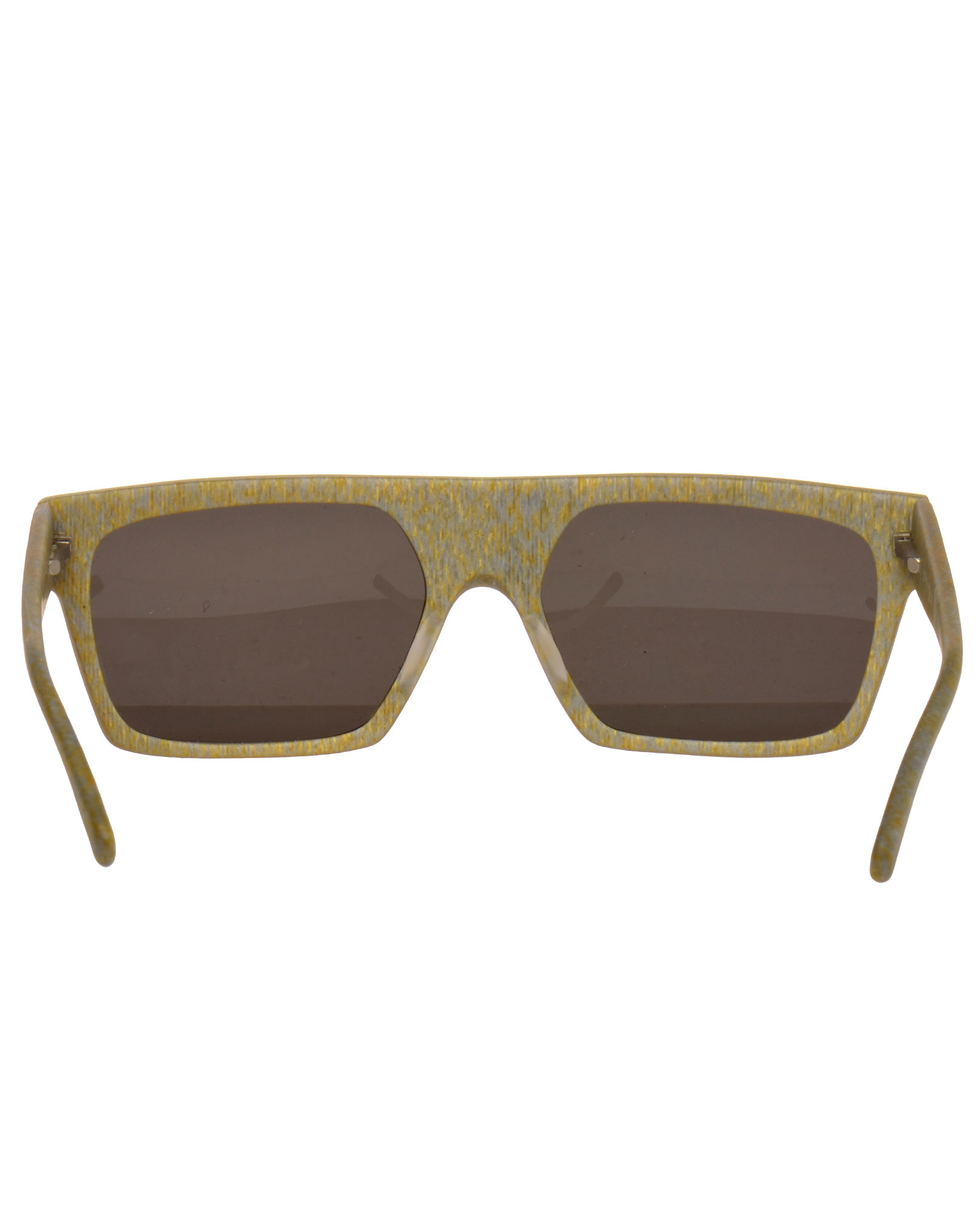 Prism Byron Bay Matte Acetate Framed Sunglasses in Gold (Metallic)