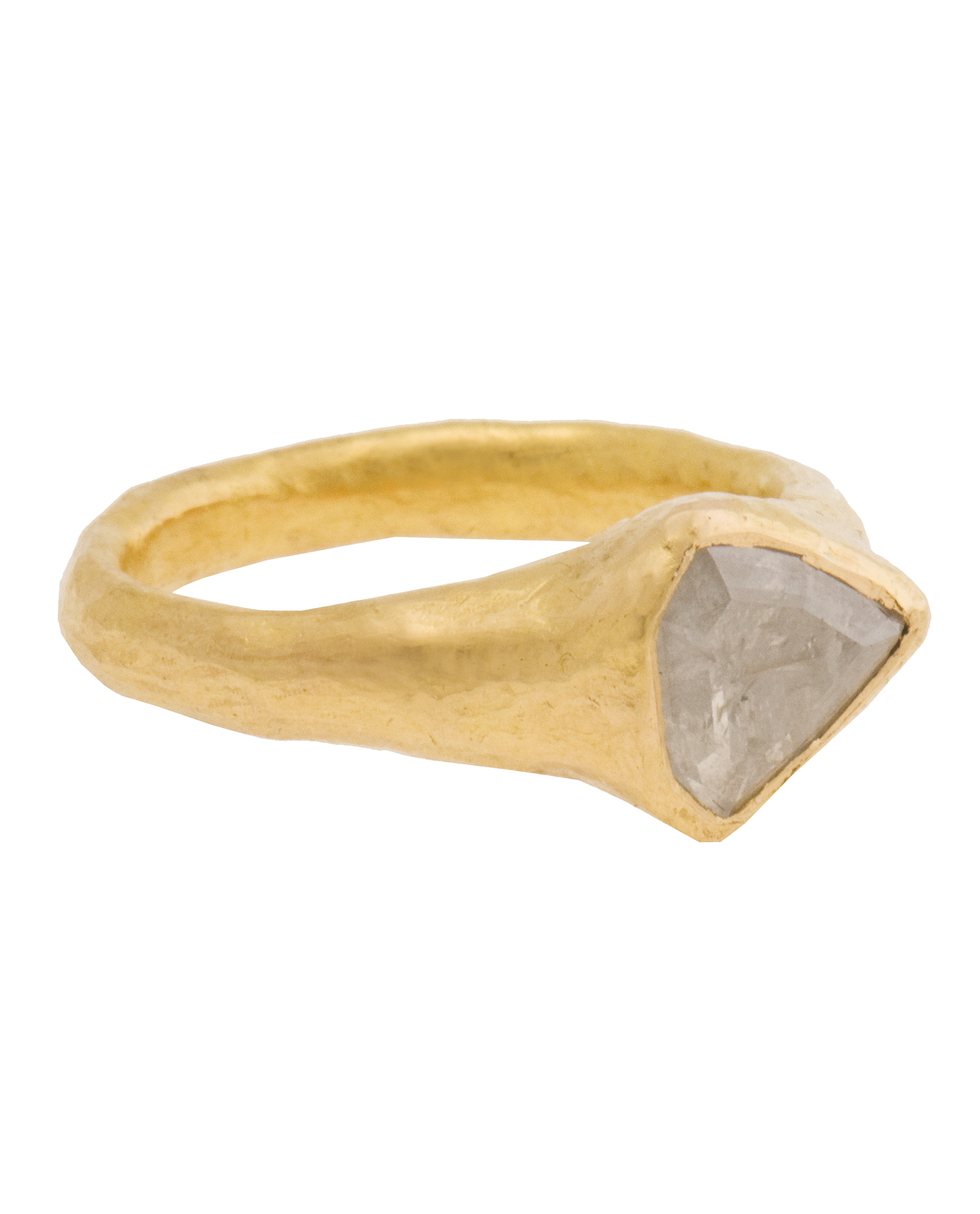 ram 22k gold ring with white in metallic lyst