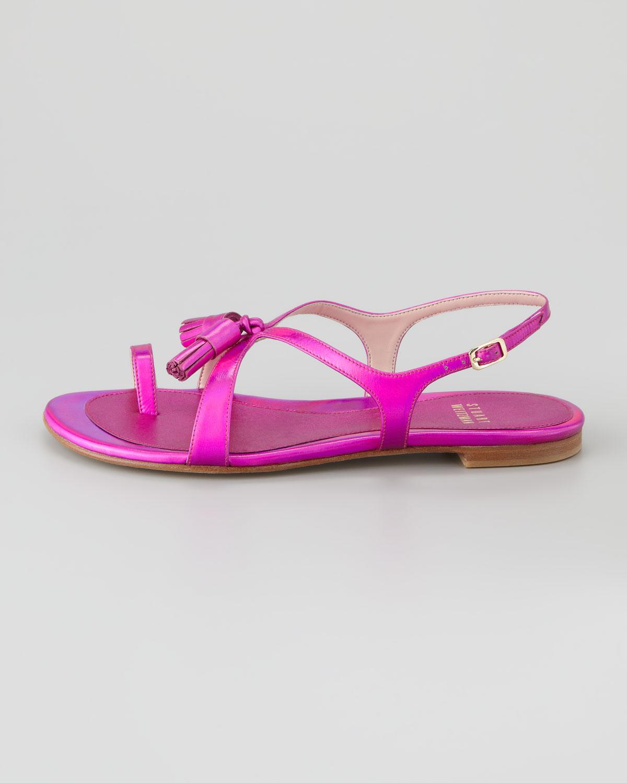 Shocking Pink Flat Shoes