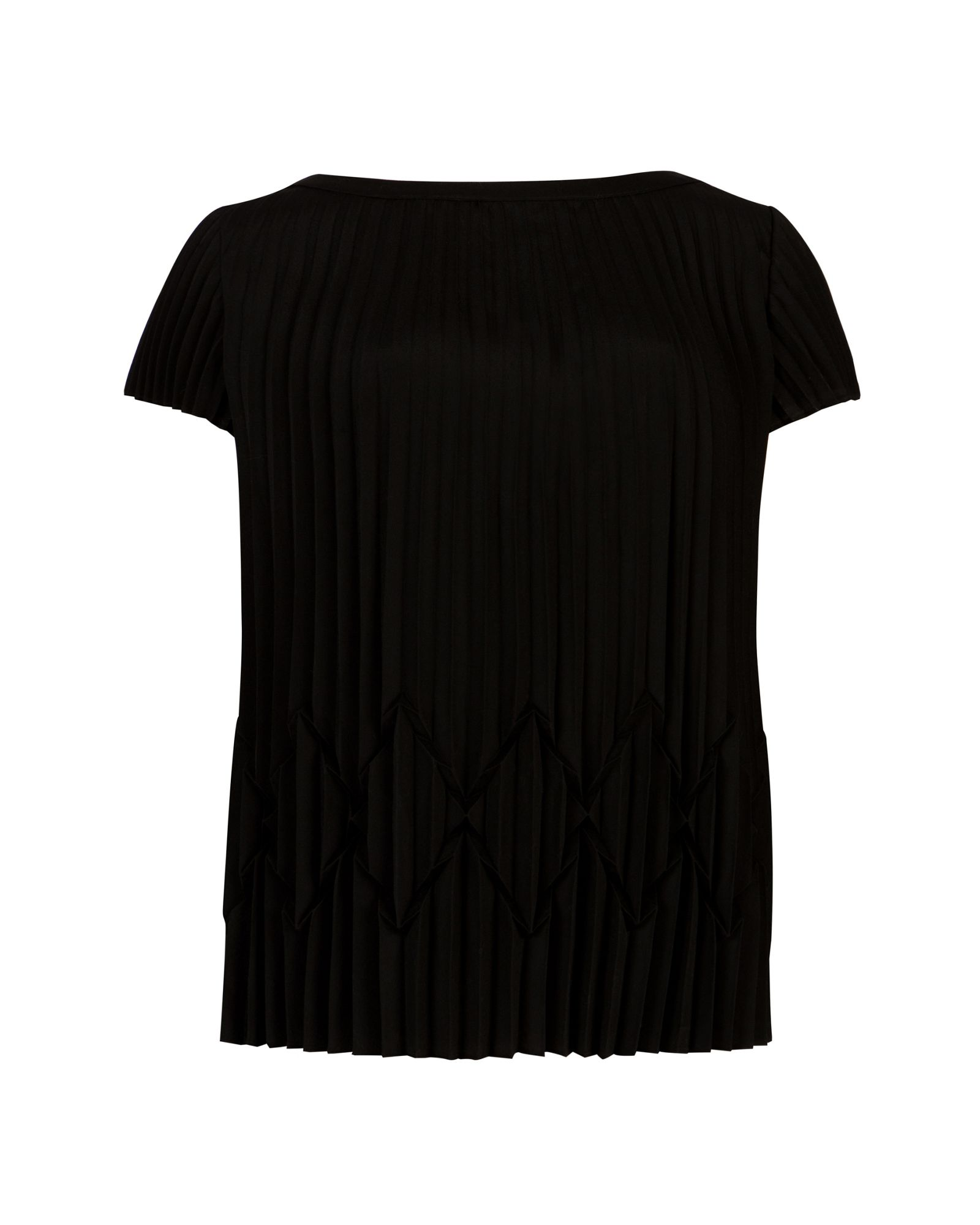 Ted Baker Pareen Pleated Top in Black | Lyst - photo#34