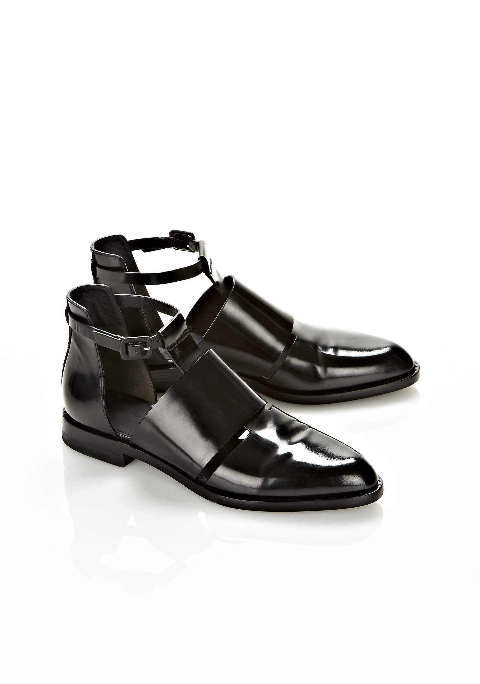 Lyst Alexander Wang Cut Out Ankle Boot In Black