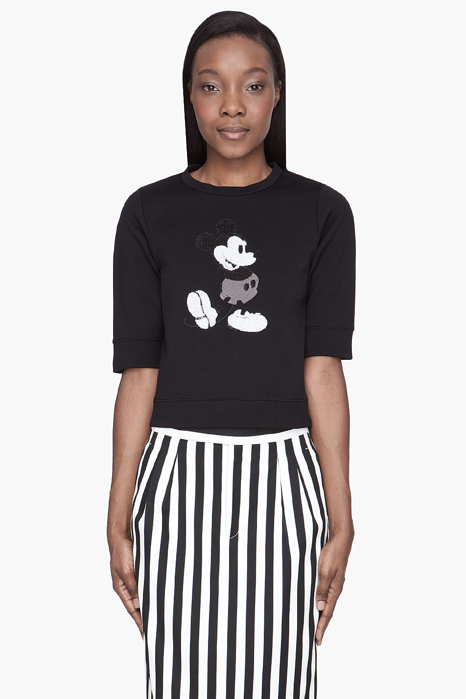 Marc Jacobs Black Sequined Mickey Mouse Sweater Lyst