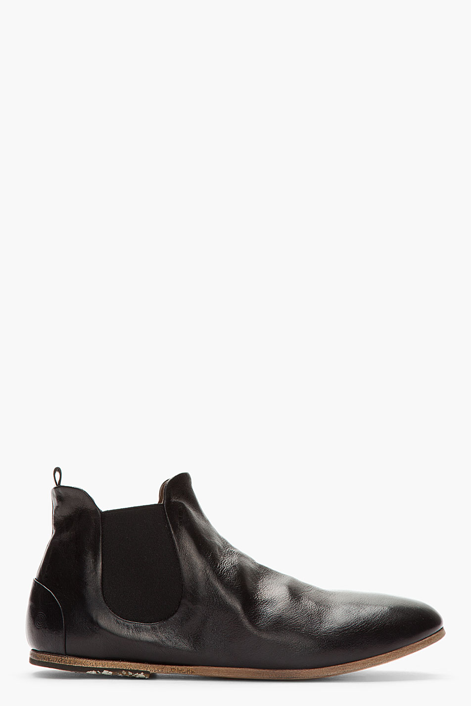 mars 232 ll black leather luc chelsea boots in black for