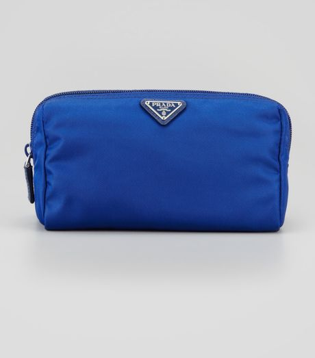 Prada Medium Nylon Cosmetics Bag in Blue (royal blue)