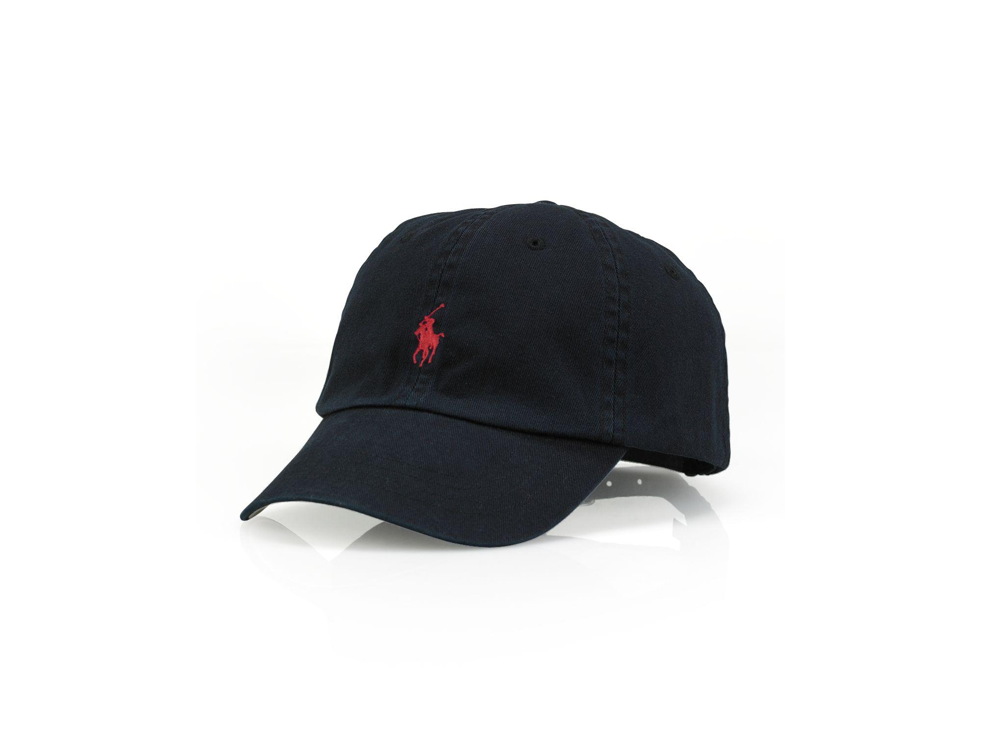Ralph Lauren Polo Signature Pony Hat In Black For Men Lyst