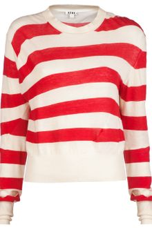 Acne Lia Stripe Crew Sweater - Lyst