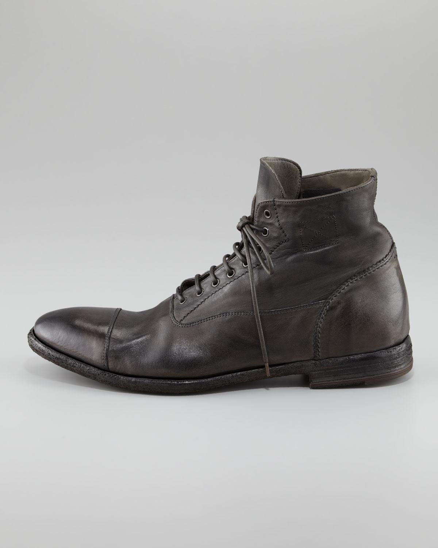 Alexander McQueen Distressed Leather
