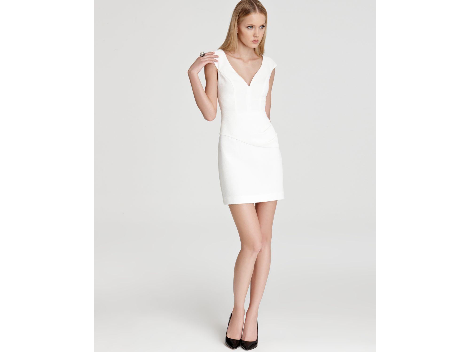e96d12ad2eed Lyst - Black Halo Mini Dress Dame V Neck in White
