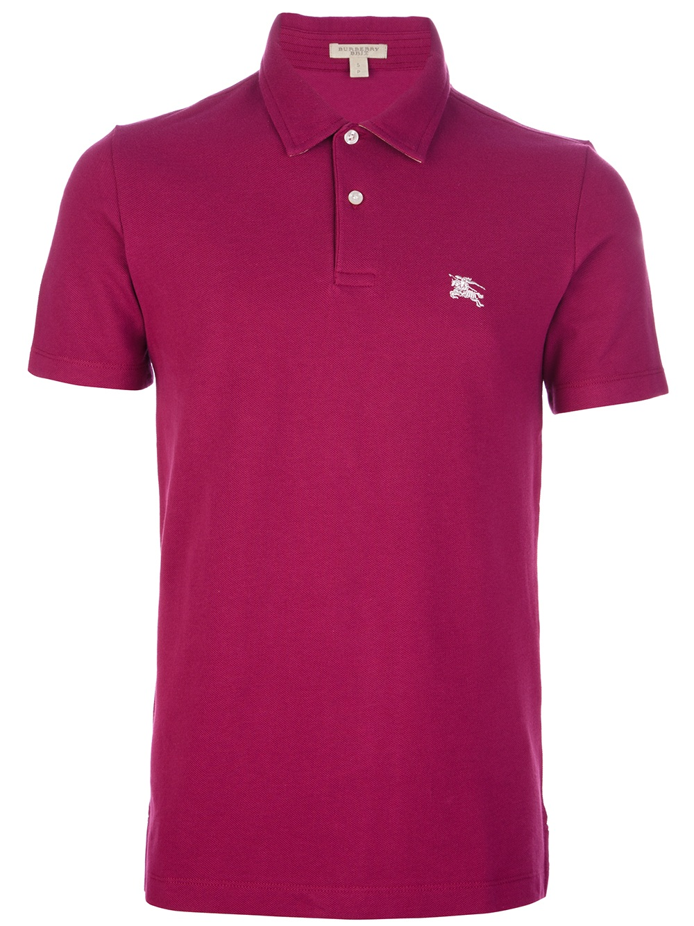 Burberry Brit Classic Polo Shirt In Red For Men Raspberry