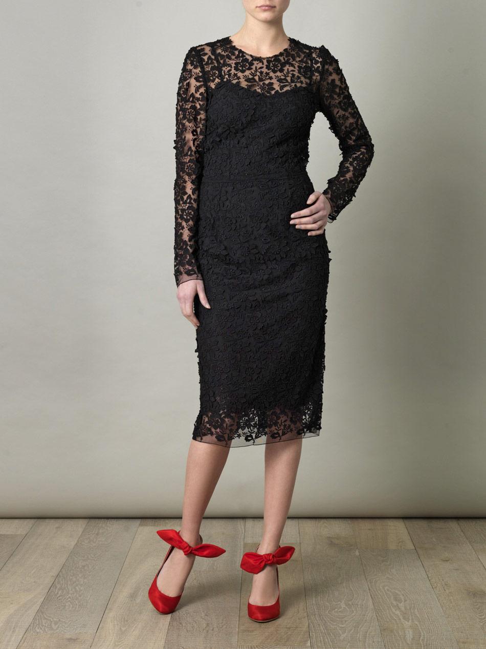 Dolce and gabbana black lace dress