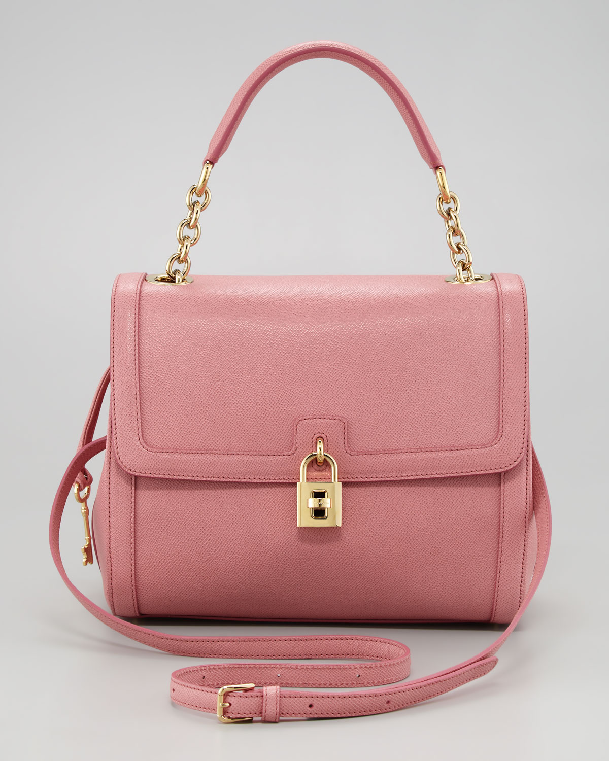 Lyst - Dolce   Gabbana Miss Dolce Leather Satchel Bag in Pink b3567dd77c617