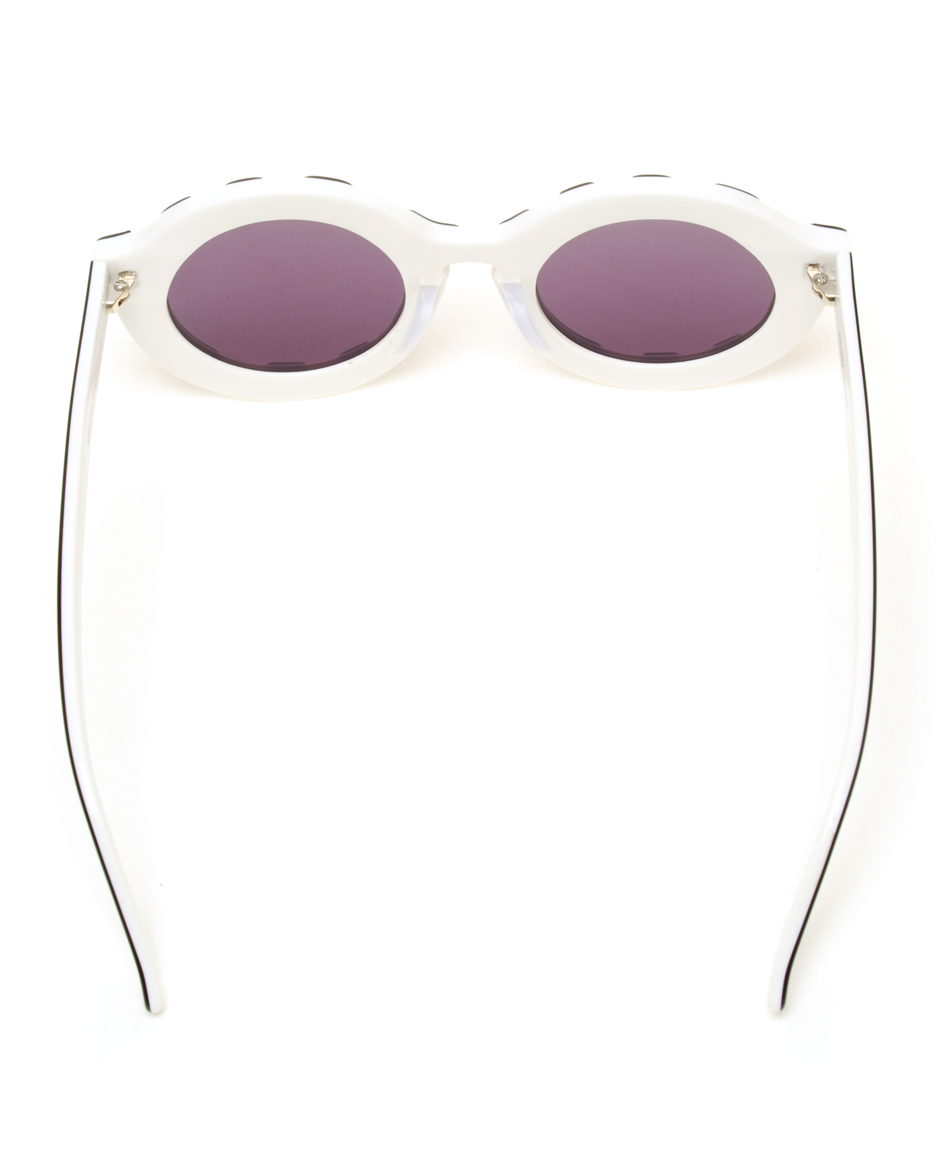 House of Holland Peggy Round Acetate Sunglasses in Black (Brown)